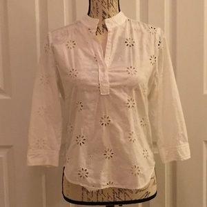 GAP White cotton blouse size small